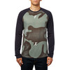 Fox Conjoin Tech Raglan LS Tee Men Heather Dark Fatigue